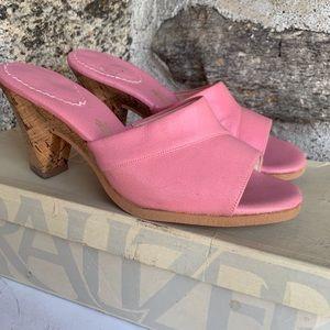 Vintage new baby pink Nauralizer heels Cork60s 70s